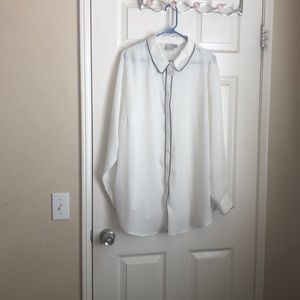 Asos curve button down blouse size 18